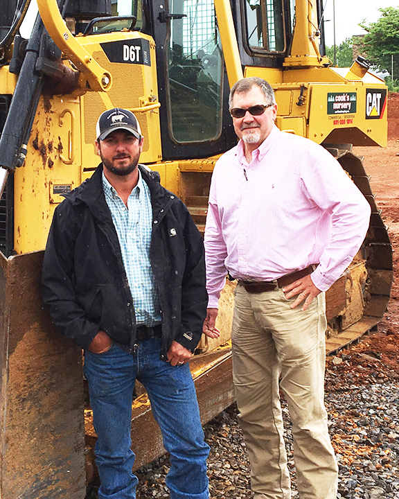 Patrick Cook; Thompson Machinery's David Boone - Cook's Nursery And Landscaping - Thompson Machinery
