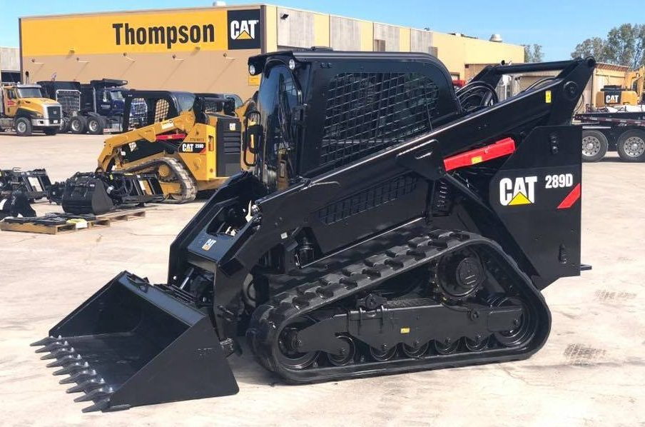 Cat compact track loader painted black