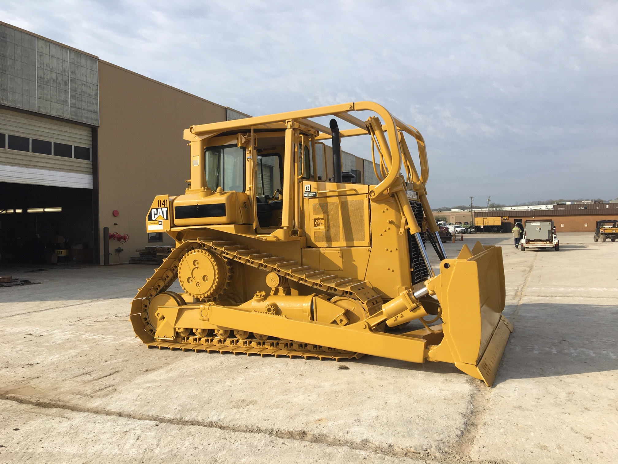 repainted caterpillar dozer