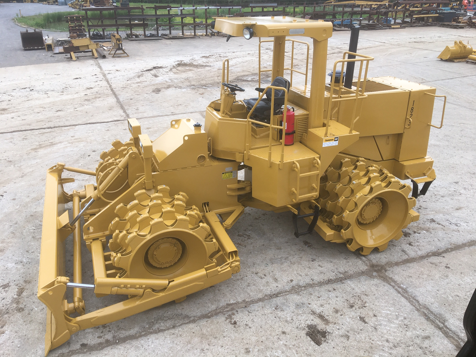 Repainted Caterpillar Equipment