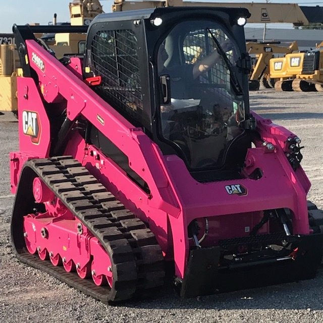 multi-terrain loader painted pink