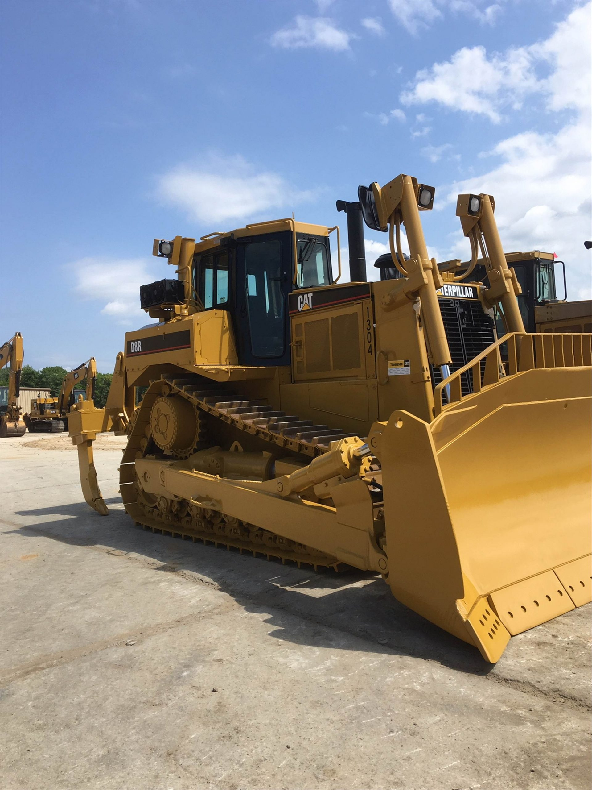 repainted construction equipment