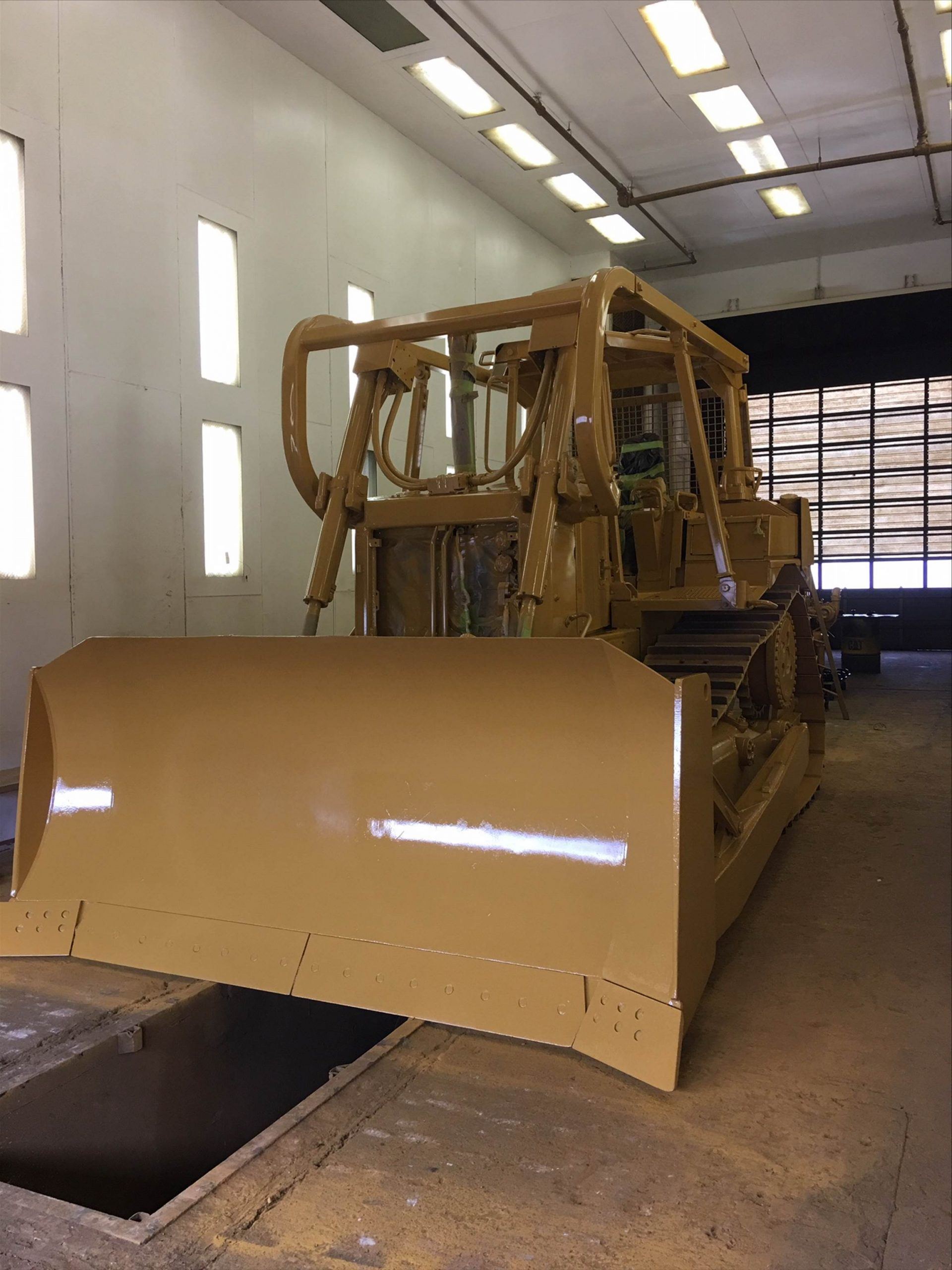 Dozer painted yellow